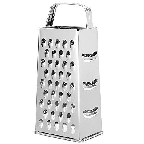 KLAGENA Vierkantreibe, ideal zum groben und feinen Raspeln, Reiben oder Schneiden von Gemüse und Käse – Edelstahl Vierkantreibe, Allzweck Vierkantreibe