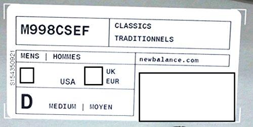 New Balance M998, CSAM green/white Bleu marine-Gris