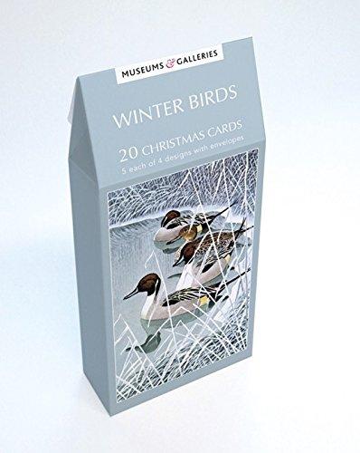 Weihnachtskarten, Motiv: Wintervögel mit Peaking-Motiv (TENX803) ()