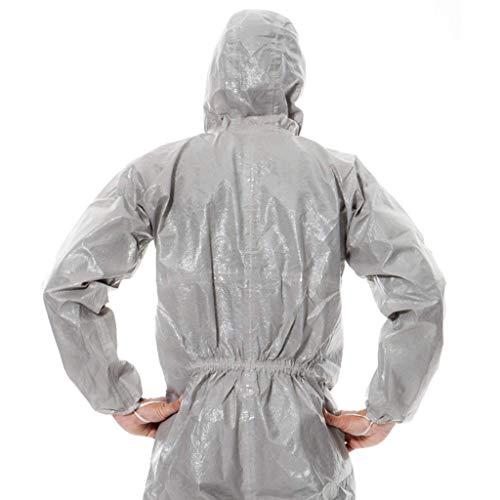 gz Indumenti protettivi chimici dedicati Indumenti protettivi chimici con cappuccio Indumenti protettivi spray antiparassitari Laboratorio chimico Tuta protettiva per acidi e alcali,*-Grande