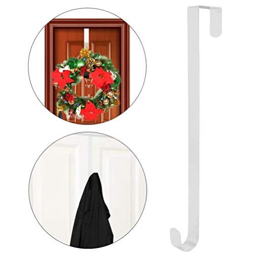 Kranz Aufhänger Türhaken Metall Weihnachten Kranzhalter Türkranz Haken ohne Bohren für Türdeko Hängen für Weihnachtskranz Weihnachtssocken
