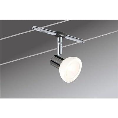 Paulmann 97536 Wire System Sheela 210 6x35W GU5,3 schwarz chrom/Opal 230/12V 210VA Metall/Glas von Paulmann Leuchten bei Lampenhans.de