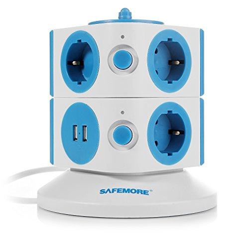 vente safemore tour multiprise interrupteur dalimentation adaptateur 7 prises de recharge usb 2. Black Bedroom Furniture Sets. Home Design Ideas