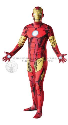 Iron Man Kostüm - '2nd Skin' Ganzkörper Stretch-Overall - Gr. M