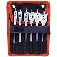 PREMIUM EXTOL 8801210 plano brocas para madera juego de (6 piezas)