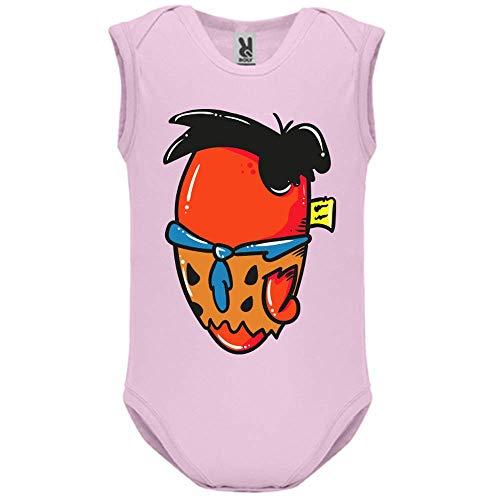 LookMyKase Body bébé - Manche sans - Fred - Bébé Fille - Rose - 3MOIS