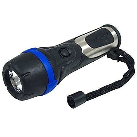 First4Spares Steel and Rubber Constructed Torch with Super Bright Xenon Bulb