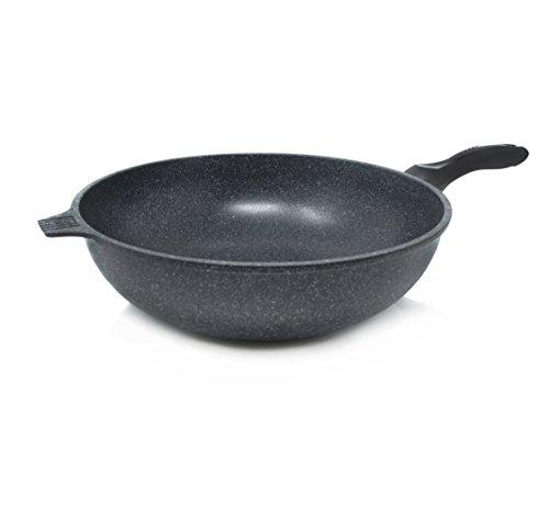 Nonstick Stone Coating 32cm Wok Pan, Made in Korea (PTFE and PFOA Free)