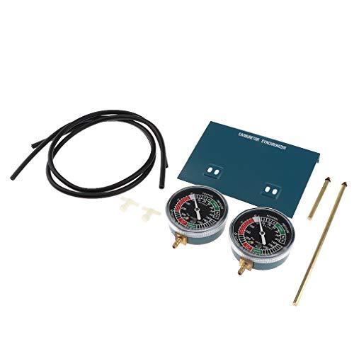 Semoic Sincronizzatore Carburatore Sottovuoto Carburatore Sincronizzatore Set 2 Carb per Vacuometri da Moto di Eccellente qualità