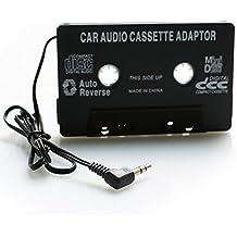 Cassette de Voiture Adaptateur Autoradio pour iphone/ipod/Samsung galaxy Grand prime Android Phones/MP3/DVD radio and CD Lecteur Noir