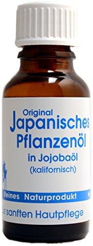 Original Japanisches Pflanzenöl in Jojobaöl | Wohltuendes Minzöl | Naturreines japanisches Heilpflanzenöl (20ml)
