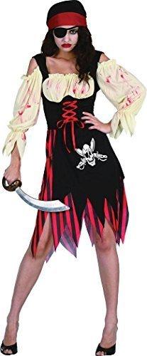 Halloween Horror Kleid Kostüm Party Piraten Zombie Damen Mädchen Kostüm Outfit (Piraten Zombie Kostüm Für Mädchen)