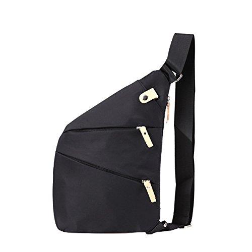 Modelli Bag Esplosione Yy.f Pacchetto Degli Uomini Di Modo Torace Nuova Borsa Messenger Casuale Borsa Semplice Uomo Zaino Personalità Maschile Multicolore Black