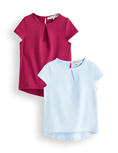 RED WAGON Girls' T-Shirt (Pack of 2)