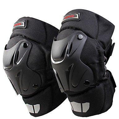 TOPY k15 Motorrad kneepad Schutz Nylon 300d Mesh-Stoff windproof tragbar Knie&Ellbogenschoner freie Größe schwarz