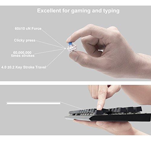 Mechanical Keyboard UK Layout, GooBang Doo Game Keyboards