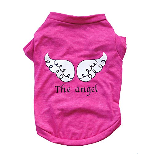 &liyanan Pet Kleidung, The Angel Vest Cotton Pet Kleidung Pet Kostüm Small Dog Cat Apparel Ärmelloses T-Shirt - Geeignet für Frühling, Sommer und Sommer,Pink,XS