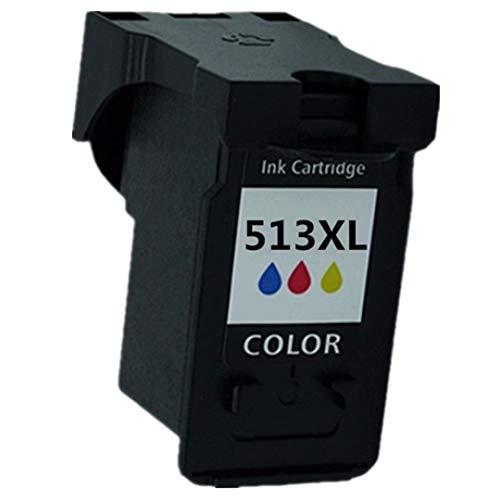 No-Name Wiederaufbereitete Druckerpatronen PG-512 PG 512 XL PG512 CL-513 CL513 CL 513 Ersatz für Canon Pixma MP490 MP492 MP495 MP499 1 Tri-Color - Pixma Mp490 Drucken
