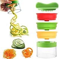 Spiralizer Vegetal INKERSCOOP 3 cuchillas Spiralizer de mano Vegetable Slicer, Spiral Slicer Crea Endless Spaghetti Noodles, Vegetal Spiralizer y Cutter para Zucchini, Zanahoria