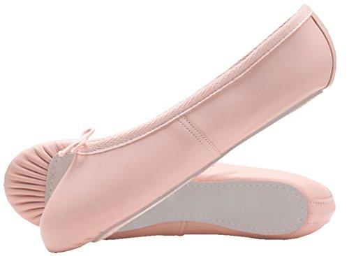 CHEETAH Kinder Ballettschläppchen Leder, Chromleder Sohle Rosa