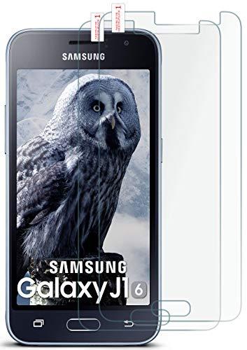 moex 2X 9H Panzerfolie für Samsung Galaxy J1 (2016) | Panzerglas Bildschirm Glasfolie [Tempered Glass] Screen Protector Glas Bildschirmschutz-Folie für Samsung Galaxy J1 2016 Schutzfolie