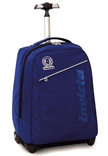 Trolley invicta , benin , blu , 35 lt , 2in1 zaino  con spallacci a scomparsa , scuola & viaggio