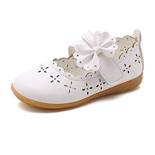 SOMESUN Baby Mädchen Elegant Lederschuhe Süße Fliege Prinzessin Atmungsaktiv Hohl Tanzschuhe Weich Leichtgewicht Schnürhalbschuhe Sneaker Freizeit Schuhe Berufsschuhe