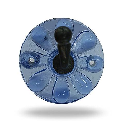 Nimes Simple Glas Bademantel Haken Blau für Badezimmer Küche Aufhängen Organizer von (Brushed Pewter Knob)
