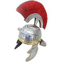 Thor instrumentos. Co antiguo romano casco de centurión armadura rojo penacho Coleccionable Medieval cromo