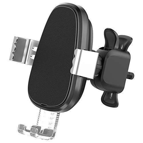 cA0boluoC Auto Wireless Schnellladegerät Auto USB Ladegerät 10W QC3.0 Elektromagnetischer Sensor Automatische Einziehbare für Samsung Galaxy iPhone iPad HTC LG Smartphones Tablets Powerbank