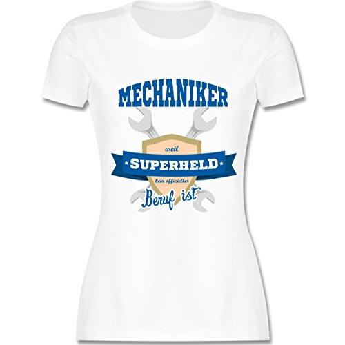 Handwerk - Mechaniker - weil Superheld kein offizieller Beruf ist - tailliertes Premium T-Shirt mit Rundhalsausschnitt für Damen Weiß