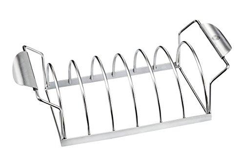 Deluxe Grill-tool (Gefu 89248 Spare Rib Halter BBQ Bratenhalter Edelstahl)