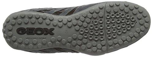 Geox Snake K, Sneakers Basses Homme Gris - Grey (Grey/Coffee)