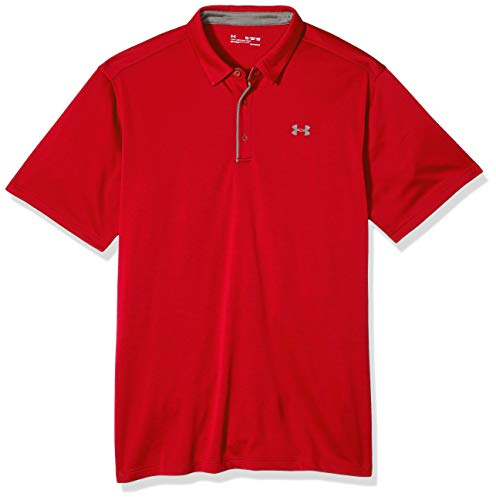 Under Armour Herren Tech Polo Kurzarmhemd, Rot Red, L