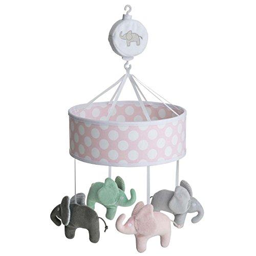 Rätt Start Elefant Design musikalischen Bett Mobile Baby Spielzeug, rosa (Baby Eule Für Mobile Kinderbett)