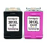 Cartridgeify 301XL Remplacement pour HP 301 XL Cartouche d'encre Pack de 2 Cartouches, pour HP Deskjet 1050a 2050 2510 2540 Officejet 2620 4630 Envy 4500 4502 4507 5530 Noir+Tri-Couleur