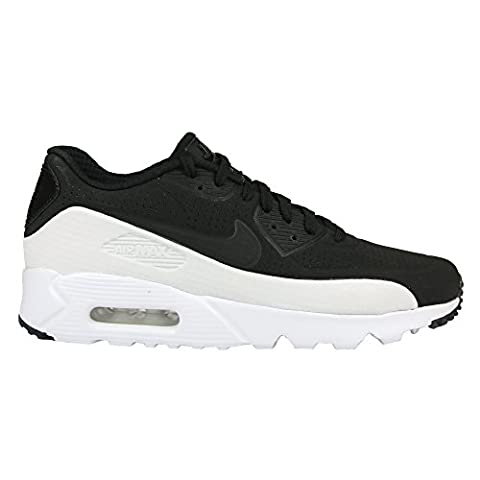 Nike Air Max 90 Ultra Moire, Chaussures de Sport Homme, Noir / Noir-Blanc, 46 EU