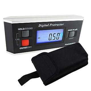 Portable Digital Protractor Angle Finder Level Inclinometer Magnetic 0~360 Degree for metal wood LCD Backlight Built-in Magnet V-groove base