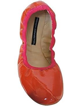 FRENCH CONNECTION eccezionale Patent arancione stile Ballerina, pompe, misura UK 5 & UK