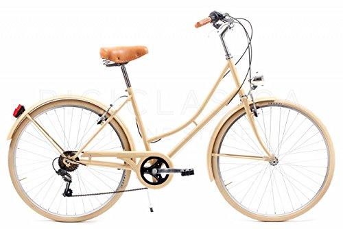 Bicicleta Urbana Capri Valentina Camel 6 Velocidades