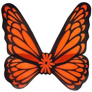 COOLMP Lot de 12 - - - Ailes de Papillon Fluo Orange 76cm 4ebfa3