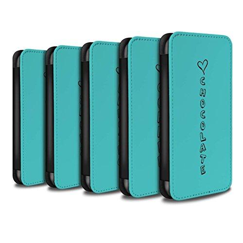 Stuff4 Coque/Etui/Housse Cuir PU Case/Cover pour Apple iPhone 6+/Plus 5.5 / Bleu/Amour Chocolat Design / Coeur XOXO Collection Pack 18pcs