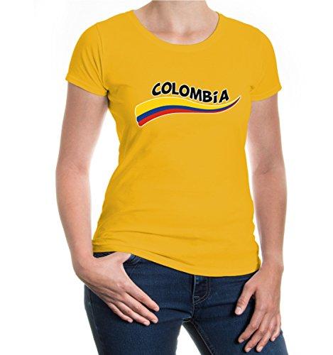 buXsbaum® Girlie T-Shirt Kolumbien-Wave Sunflower-z-direct
