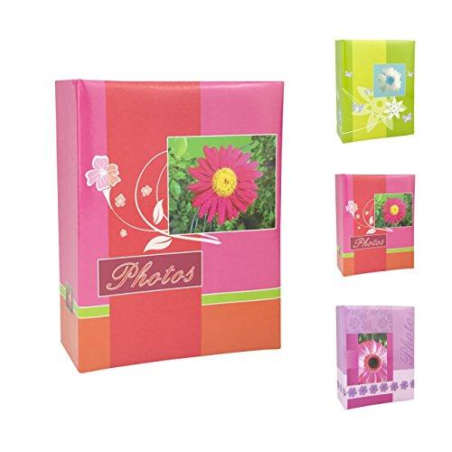 Preisvergleich Produktbild Quantio Einsteckalbum FLEUR CHARME - für bis zu 100 Fotos 10 x 15,  zum Einstecken von Fotos,  16, 5 x 13 x 5, 5 cm (HxBxT) - 100 Seiten - grün,  pink oder lila wählbar,  Farbe:Pink
