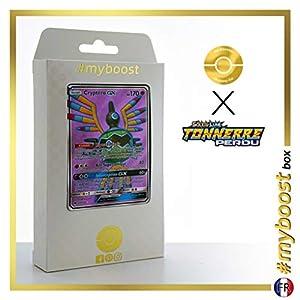 Cryptéro-GX (Sigilyph-GX) 202/214 Full Art - #myboost X Soleil & Lune 8 Tonnerre Perdu - Box de 10 Cartas Pokémon Francés