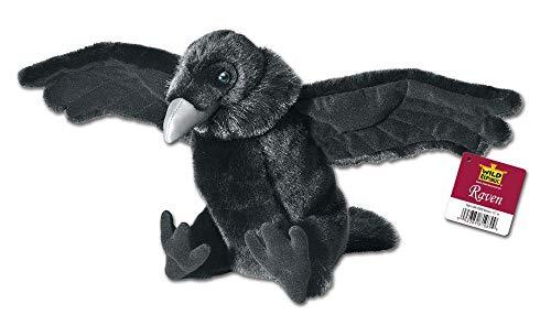 Wild Republic 81089 Rabe Stofftier, Cuddlekins Plüschtier, Kuscheltier 30 cm, schwarz