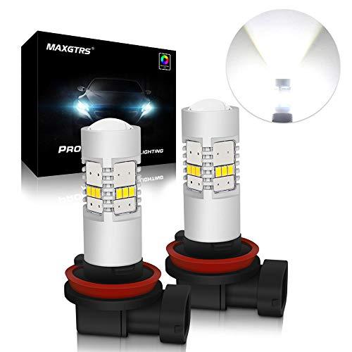 Preisvergleich Produktbild MAXGTRS extrem heller H8 / H9 / H11 / H16JP LED Nebelscheinwerfer-Birnen-Chipsatz 3020 mit dem Projektor passend - hohe Leistung 45W 6000K weiße LED Nebel-Licht-Lampe