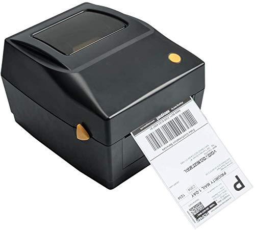 Label Printer Etikettendrucker Thermodrucker Desktop Beschriftung Drucker USB Schnittstelle kompatibel für 4x6 Versandetiketten, Ebay, Etsy, Shopify, Amazon Barcodedruck, Express Etikettendruck