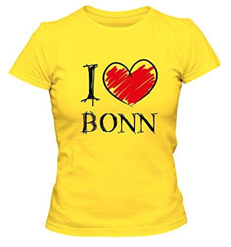 I love Bochum FUN Damen T-Shirt, Größe:XL;Farbe:gelb