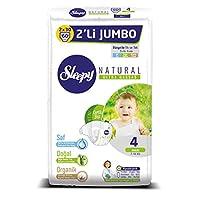 Sleepy Natural 2'li Jumbo Bebek Bezi, 4 Beden, Maxi, 60 Adet